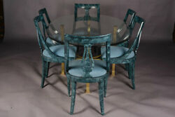 High Quality Ess-zimmer Table And 6 Chairs With Brass