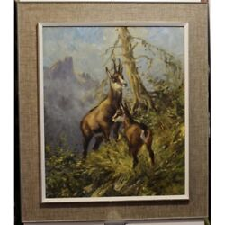Vintage 1972 Original Chamois Little One Oil Canvas Painting Signed R.guatelli