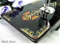 Rare Singer Featherweight 221 Sewing Machine With 1920and039s And039lotusand039 Style Displays.