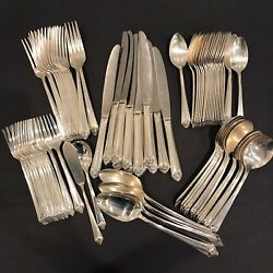 Service For 12 Starlight Set Silverplate Flatware 1950 Rogers And Bro Is - 78 Pcs