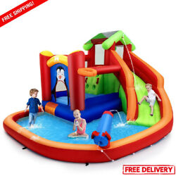 Bounce House For Kids Party Inflatable Water Slide Park Toy Outdoor Play Safety