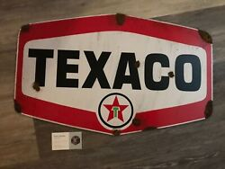 Antique Style With Barn Find Look Texaco Dealer Service Station Signandnbsp