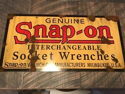 Antique Style With Barn Find Look Snap On Dealer Tools Sale Service Signandnbsp