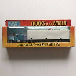 Vintage Ertl Trucks Of The World 1/64 Scale 4300 Eagle With Van 1411