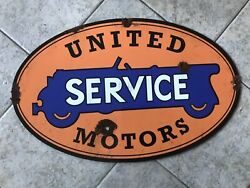 Antique Style With Barn Find Look United Motors Dealer Service Sales Sign
