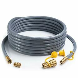 24 Feet 1/2-inch Id Natural Gas Hose With Quick Disconnect Fittings For Fire