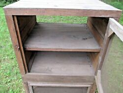 Pie Safe Jelly Cupboard Cabinet Farm House Antique Country Store Kitchen Cabinet