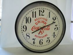 Vintage Style Coca Cola Wall Clock 14 Diameter With New Movement, Dial And Hands