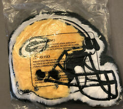 Green Bay Packers Fuzzy Forever Collectibles 14 Inch Helmet Pillow Bed