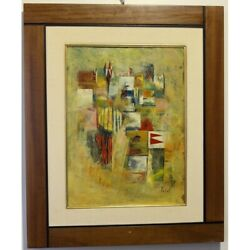 Vintage 20th Italy Original Fanions Oil Wood Painting Signed - Walter Da Col