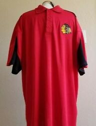 Nhl Chicago Blackhawks Red Polo 2xl Big And Tall Men's Shirt New With Tags Nwt