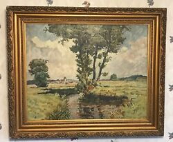 Incredible Impressionist Oil Painting Unsigned Mystery New York Gallery Stamp