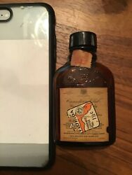 Vintage Canadian Club Canadian Whiskey Bottle Mini 1930 Tax Stamp Empty