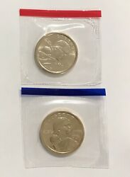 2001 P And D Sacagawea Dollar Coin Set 2 Coin Lot In Mint Cello