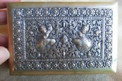 Cambodian Engraved And Reposedand039 Box For Cigarettes Or Gems-vintageand Fine