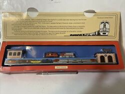 Lionel Trains / Santa Fe Train Station Limited Edition Windup Tin Toy.