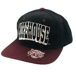 Vintage Morehouse College Tigers Hat Strapback Black Maroon Spell Out Front Back