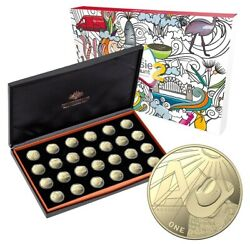 2021 1 A-z Great Aussie Coin Hunt 2 - Proof One Dollar Coin Set - Rare Unc Ram