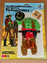 Vintage '70 Marx/gabriel Lone Ranger The Stage Robbery Action Figure/outfit Mosc