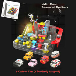 Autodrome Kids Children Play Toy Racing Car Track With Music And Lights