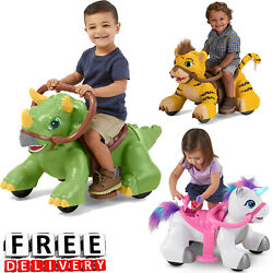 Battery Powered Ride On Toy For Kids 6v Electric Animal Girl Boy Toddler Vehicle