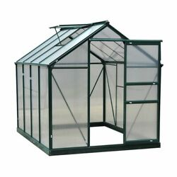 Walk-in Greenhouse 6and039 X 6and039 X 7and039 Polycarbonate Garden Portable Outdoor Gardening