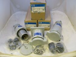 New Crouse Hinds Ccp6034bc + Cdr6034 + Crc6034bc - 60 Amp 3w 4p Complete Set