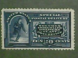 1895 Blue Special Delivery 10 Cent Messenger Running Stamp [hinged]
