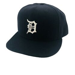 Detroit Tigers New Era 59fifty Fitted Hat Authentic Mlb Baseball Cap Blue 7 3/8