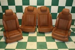 Note06-12 Continental 4dr Brown Leather Heat Cool Power Buckets Backseat Oem