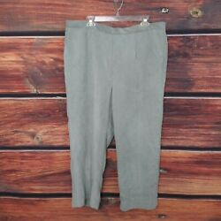 Alfred Dunner Women's Corduroy Pull On Pants Gray Eskimo Kiss Proportioned 20w