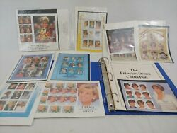 Princess Diana Memorial 75 Stamp Collection With Binder And Checklist - Mint Mnh