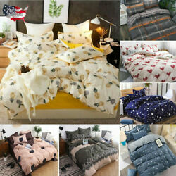 Bedding Set Soft Duvet Cover Comforter with 1 Pillowcase Home Bedroom King Queen
