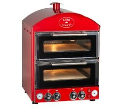 King Edward Pk2 Pizza King Oven - Double Deck - Red