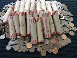 30 Rolls1500 Coins 1959-1982 95 Copper Unsearched Lincoln Pennies Free Shipping