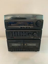 Centurion Am/fm Stereo Receiver Phono Record Turntable Double Cassette Player