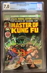 Special Marvel Edition 15 Cgc 7.0. 1st Shang-chi White Pages 1973. Movie/mcu