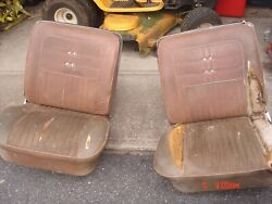 1962 1963 1964 Impala Ss Complete Bucket Seats Pair Cores With Tracks Gm Oem