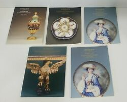 Lot Of Sotheby's English Ceramics Pottery Furniture Antique Auction Catalogs 80s