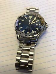 Omega Diver 300m Chronometer Blue Menand039s Watch - 2255.80.00