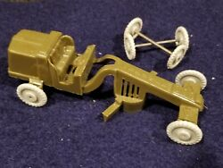 Vintage Banner Toys Military U S Army Road Grader Vehicle 1950's Rare W/extra Wh