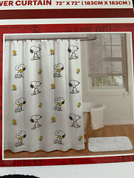 Peanuts Snoopy And Woodstock Shower Curtain 72x72 New In Packaging