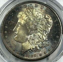 1889-s Pcgs Ms65 Gold Shield Morgan Silver Dollar 1 Toned Better Date Top Gem