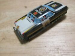Vintage Litho Tin Made In Japan Small Toy Police Car