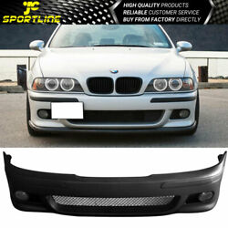 Fits 97-03 Bmw E39 5 Series M5 Style Front Bumper Conversion And Foglight Lamp Pp