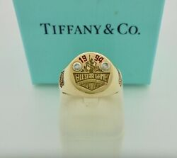 Very Rare And Co. 1994 Nhl All Star Game New York Diamond Gold Signet Ring