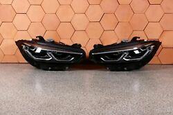 Bmw 8' G14 G15 G16 Complete Headlights Front Adaptive Led Right Left Lhd Set
