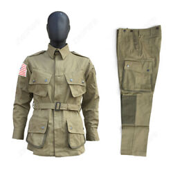 Wwii Us Army M42 Airborne Paratrooper Uniform Menand039s Coat Jacket Trousers Pants