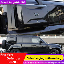Black Exterior Side Mounted Gear Box Carrier Fit For Defender 2020 2021