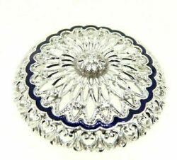 Broche Pendentif Vintage Ans And03960 In Or Blanc Massif 18k Diamants Naturels